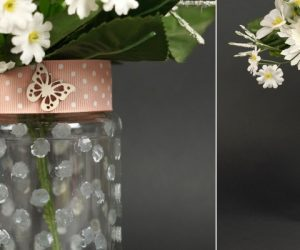 How To Turn A Plain Mason Jar Into A Beautiful Frosted Glass Vase