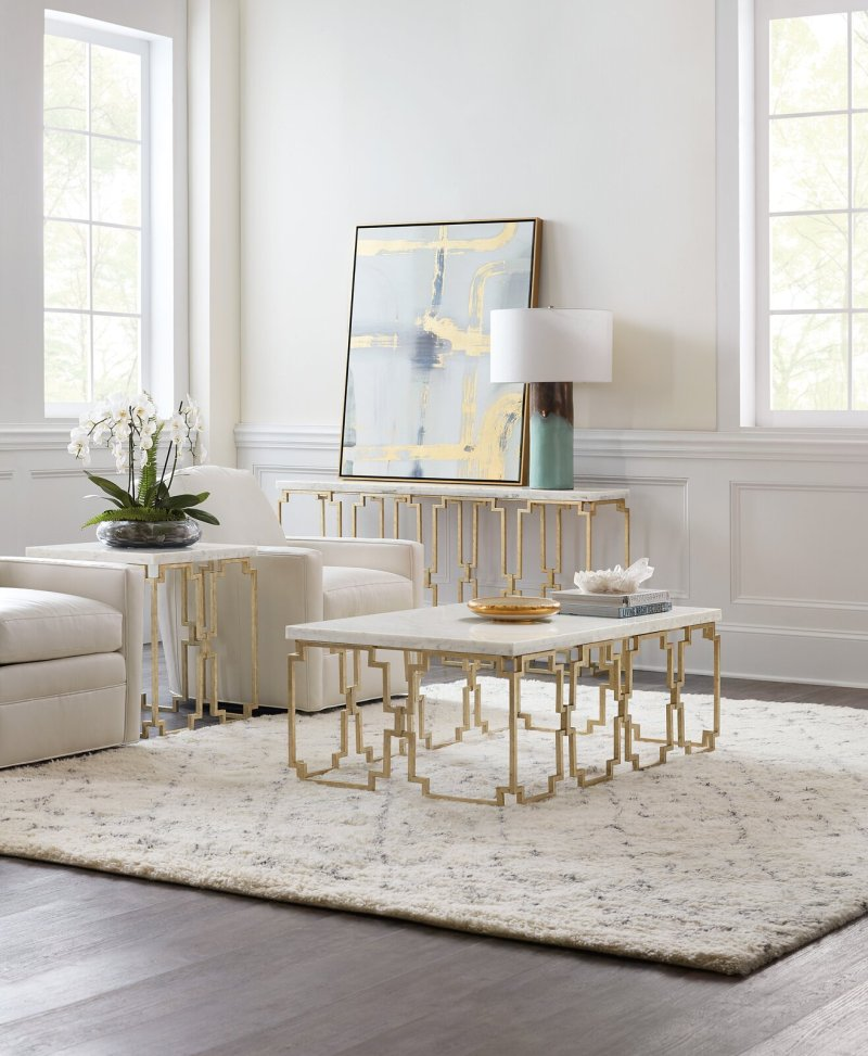 Stone top Emmeline Frame Coffee Table