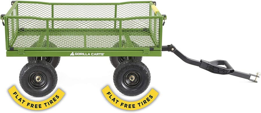 Gorilla Carts 2140GCG-NF 4 Cu. Steel Utility Cart