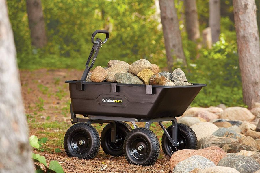 Gorilla Carts Heavy-Duty Poly Yard Dump Cart
