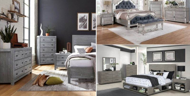 10 Inspirational Gray Bedroom Furniture Ideas – From Atmospheric Dark To Light Pastel
