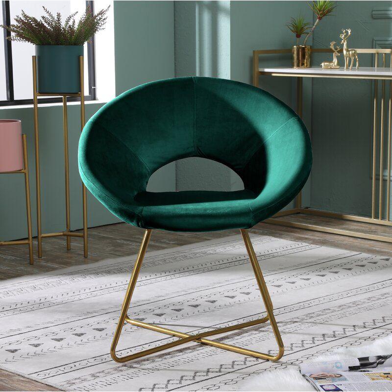 Grinnell Velvet Papasan Chair