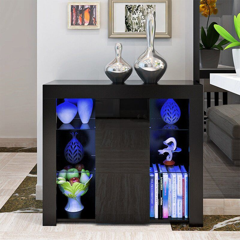 High Gloss Side Lighted Cabinet
