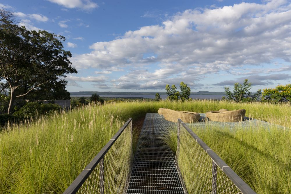 The house has a green roof which can be used as a viewing platform for admiring the view