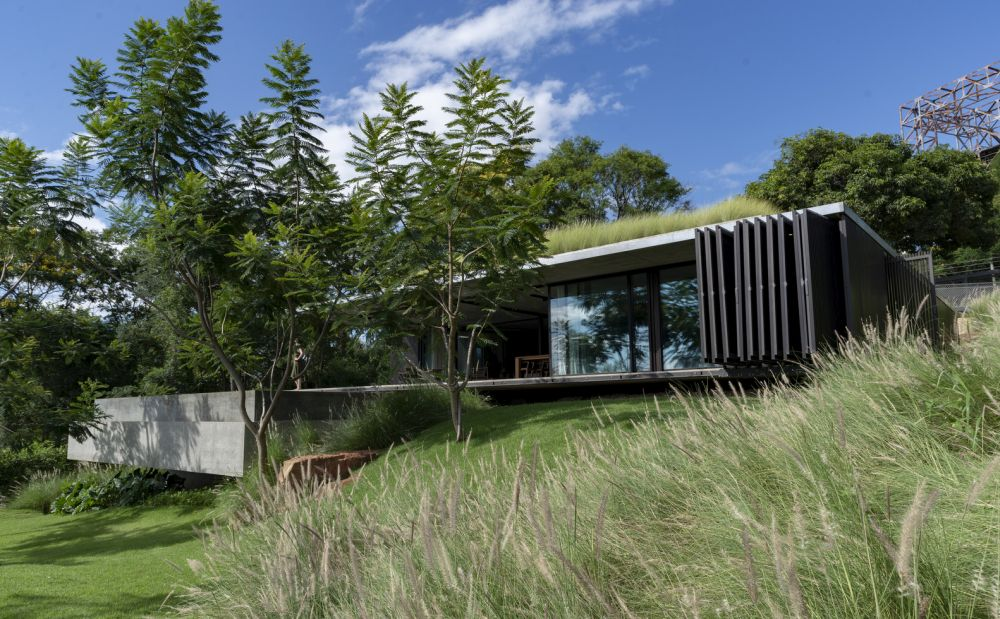 The interventions made to the site are minimal which gives the landscape a rugged look