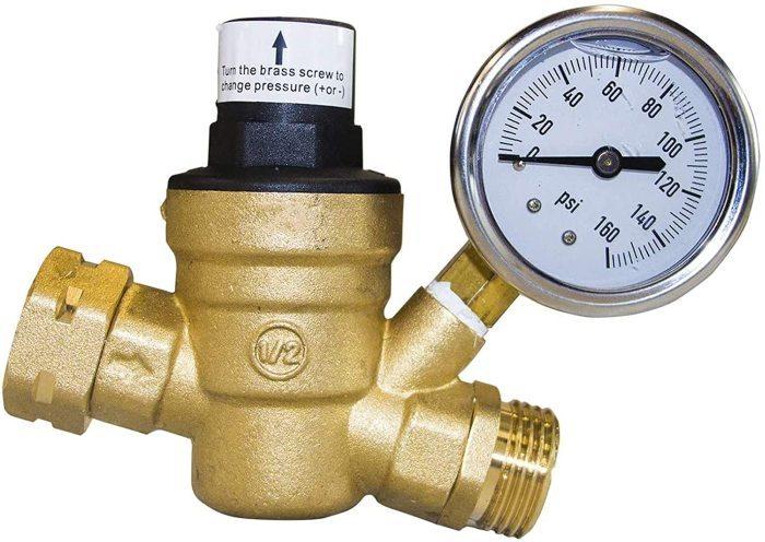 Best Water Pressure Gauge W/Regulator