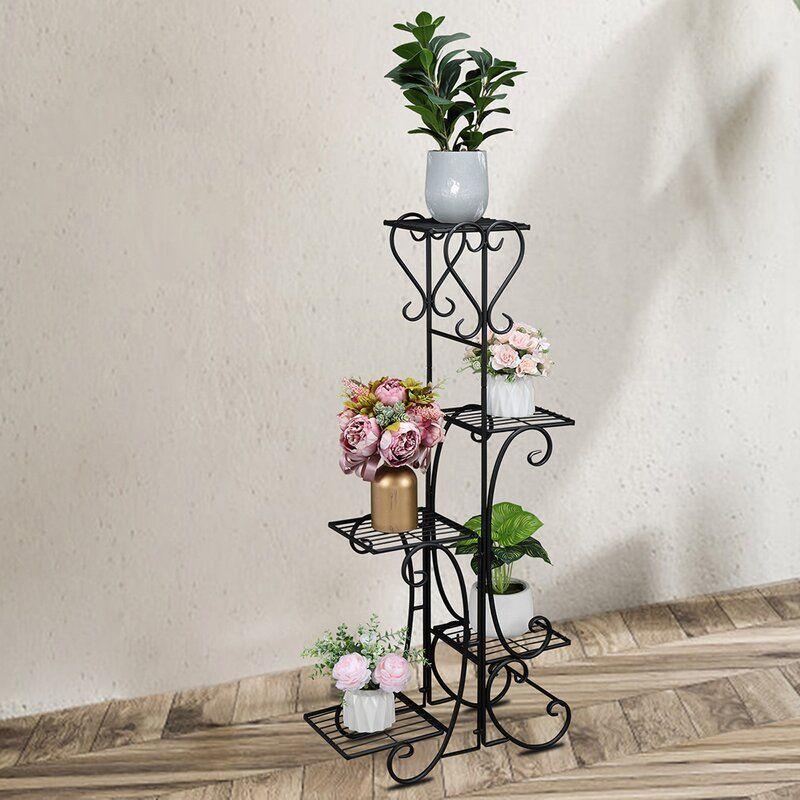 Indoor Outdoor 5-Tier Shelves Patio Plant Holder