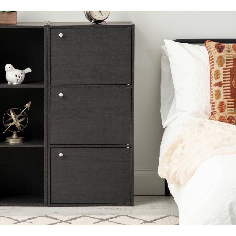 Black Iris 3 tier accent cabinet