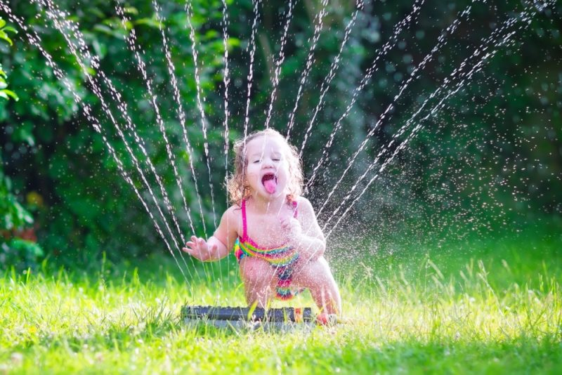 No Room for a Pool? Get a Sprinkler for Your Kids This Summer