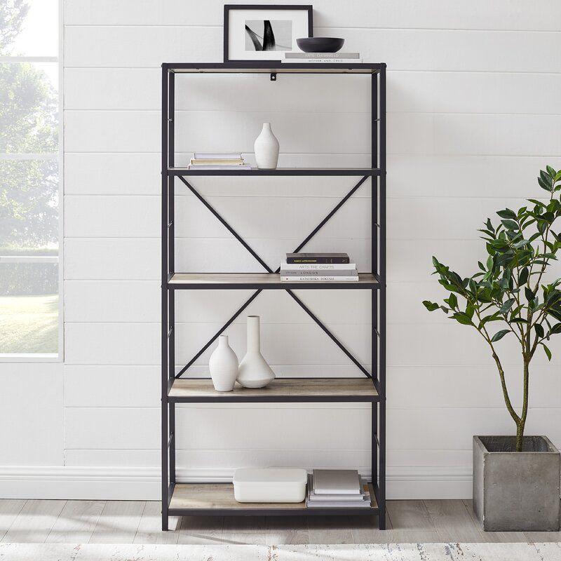 Macon W Metal Etagere Bookcase