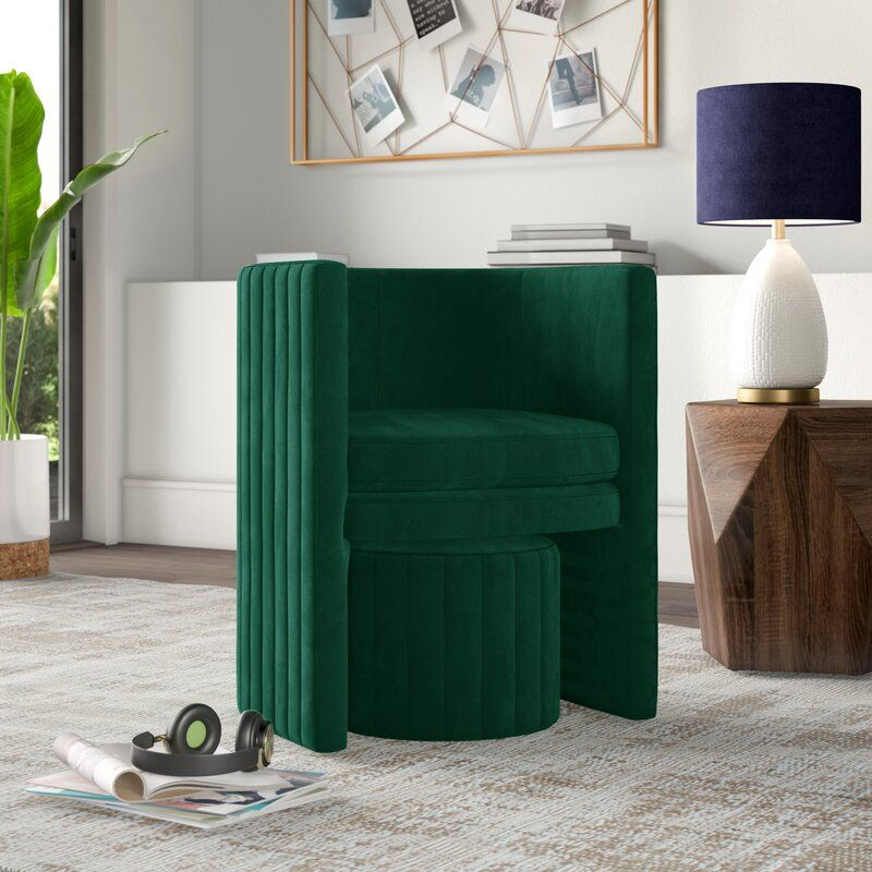 Malek Barrel Chair and Ottoman