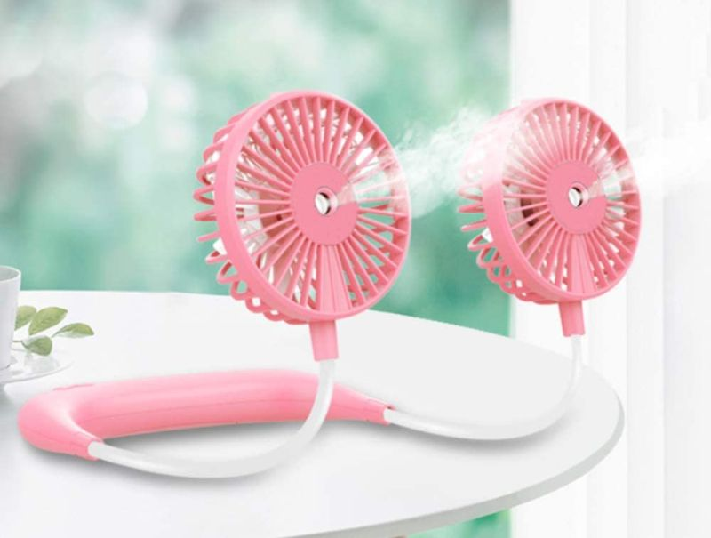 Misting Neck Fan with 40ml Water Tanks Mist Spray