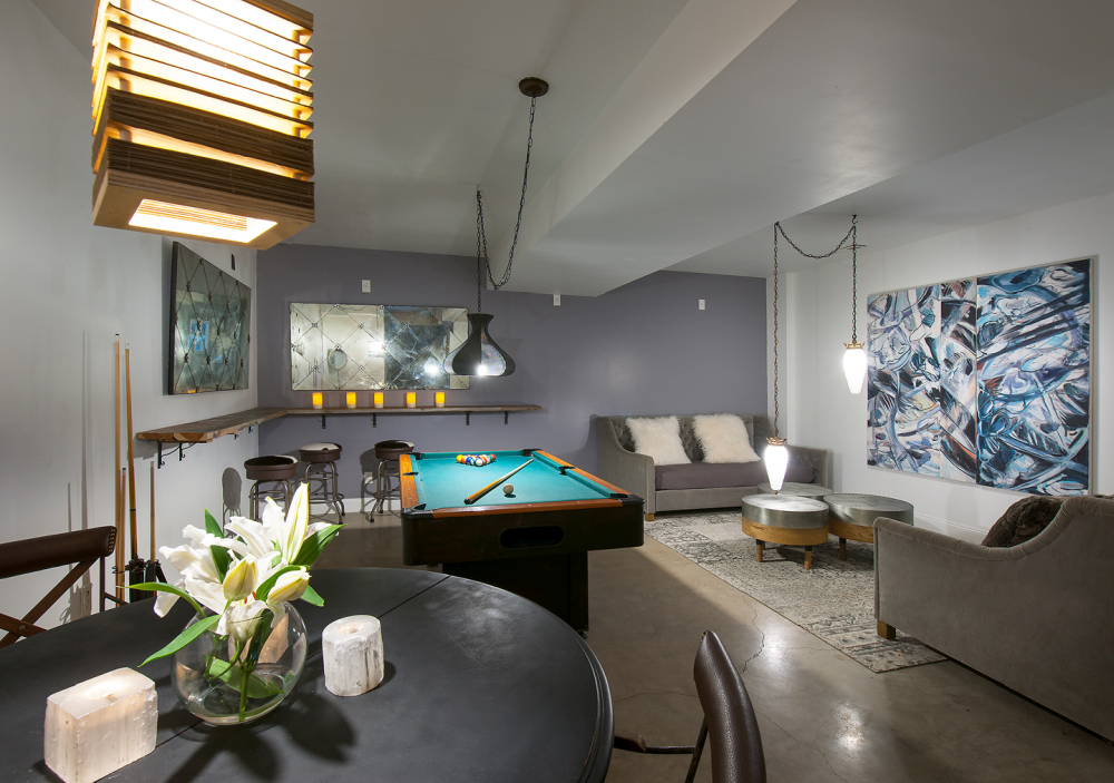 This is a recreation room, an area for playing games, chatting and relaxing