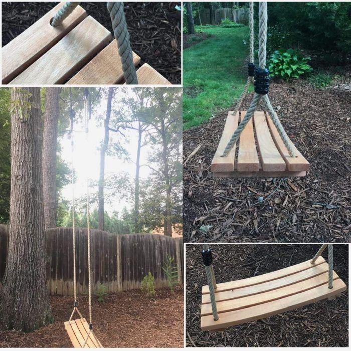PELLOR Beech Wood Tree Swing Seat