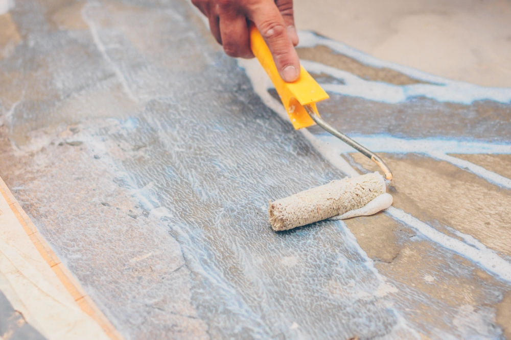 how to paint tile
