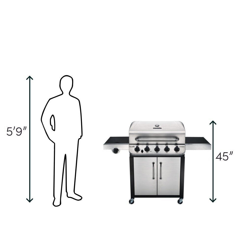 Char-Broil Performance Series 5 Burner Gas Grill Size
