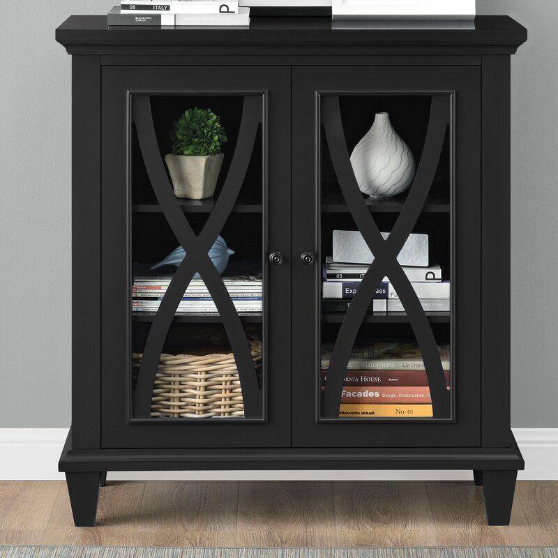 Black Rosendale 2 Door Accent Cabinet