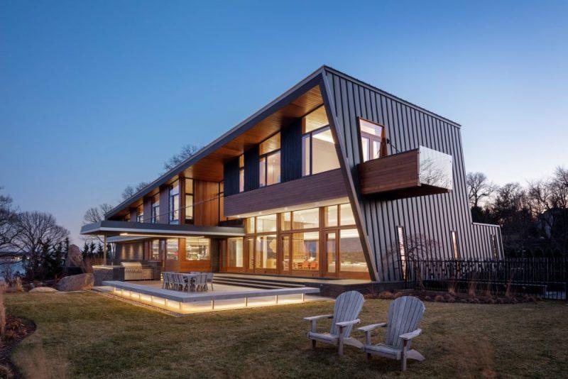 一个现代家庭度假村,具有不寻常和引人注目的几何