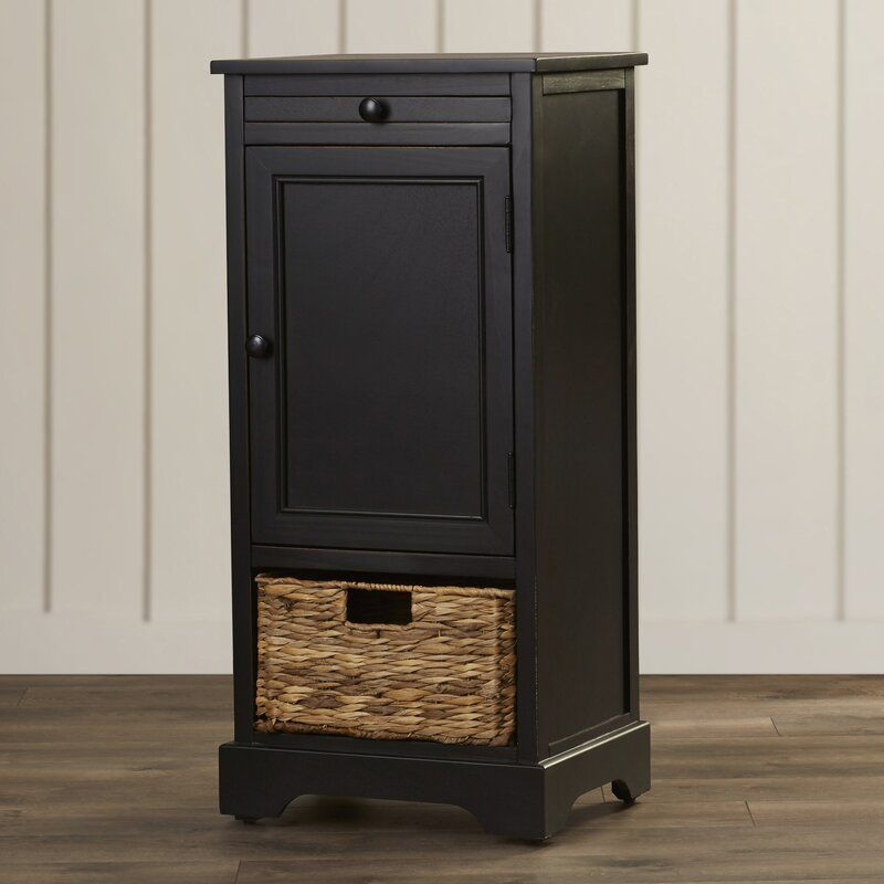 Black Santa Cruz 1 Door Accent Cabinet