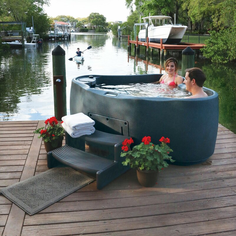 Select 300 2-Person 20-Jet Plug and Play Hot Tub with LED Waterfall