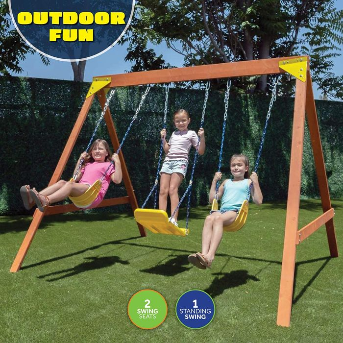 Sportspower Brighton Wood Swing Set