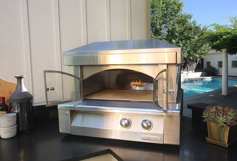 Stainless Steel Countertop Natural Gas Pizza Oven