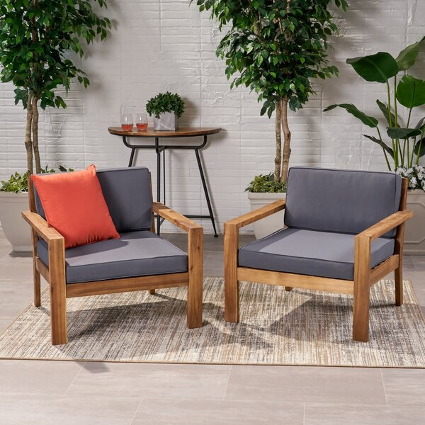 Stinchcomb Outdoor Patio Chair with Cushions