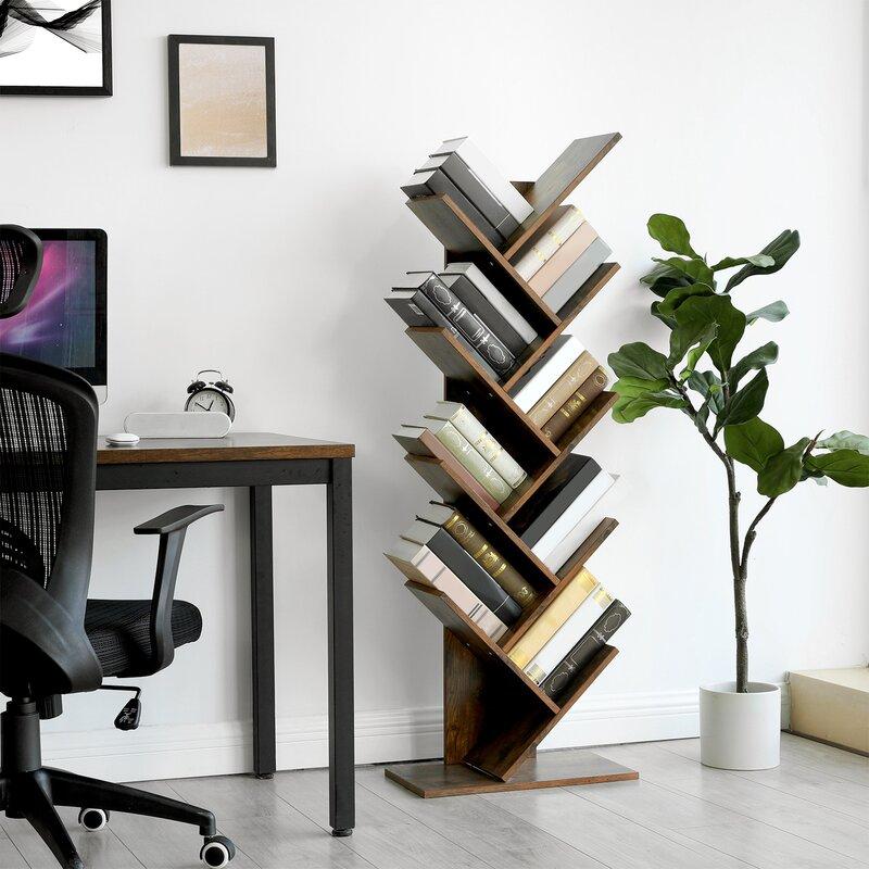 Trivette W Geometric Bookcase