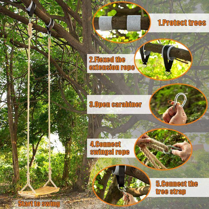 Yangbaga Wooden Swing Hanging Tree Swings for adults