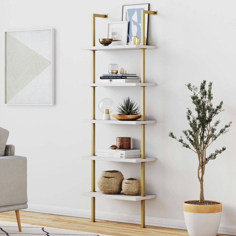wayfair bookshelf - Zachary W Steel Ladder Bookcase