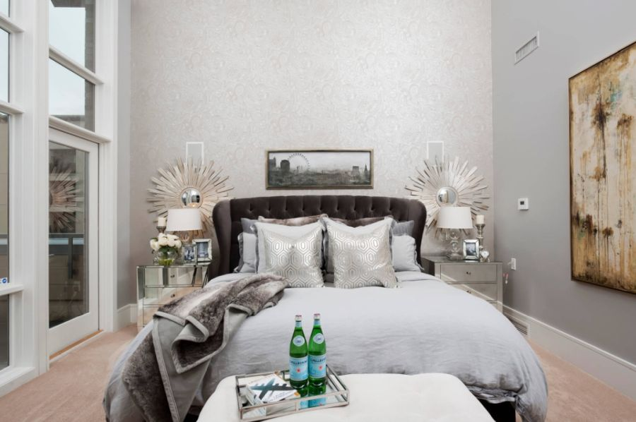 Bedroom wallpaper with A stylish backdrop