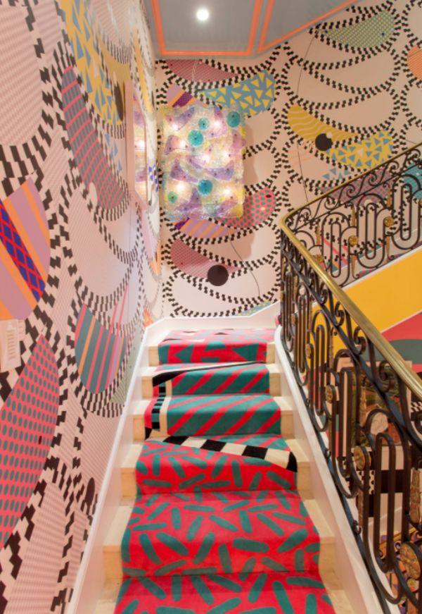 staircase wallpaper design