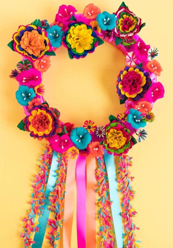 Make a colorful fiesta wreath