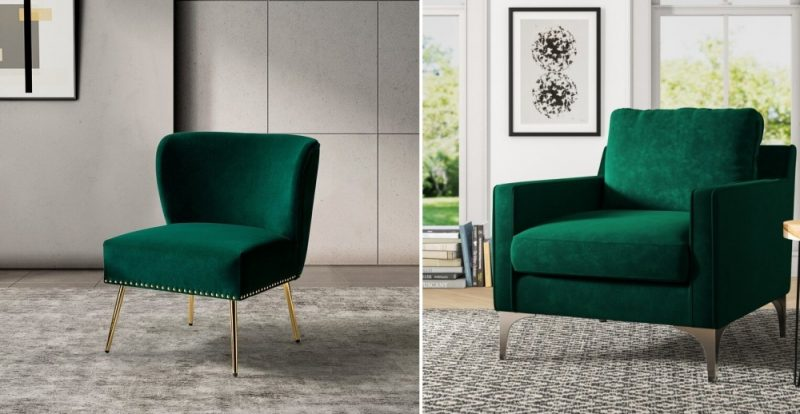 Green Velvet Chair? Yes, Please! How To Choose An Accent Chair