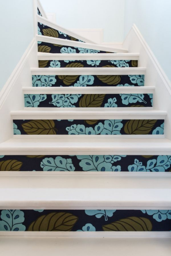 How To Apply Wallpaper To Staircase