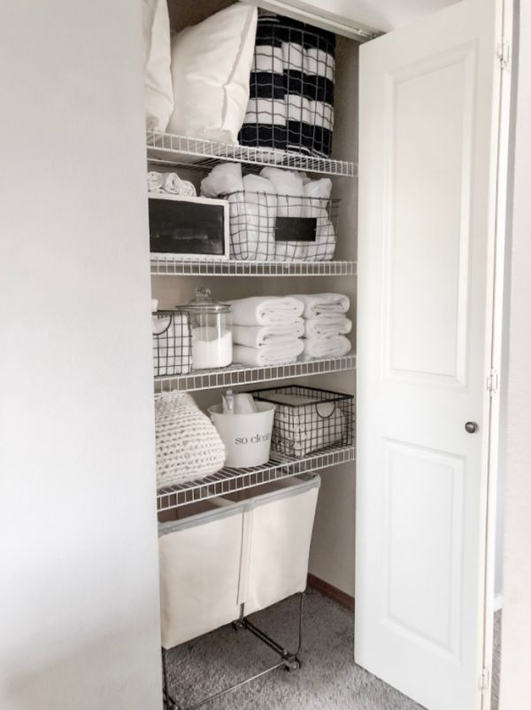 A great use of wire baskets