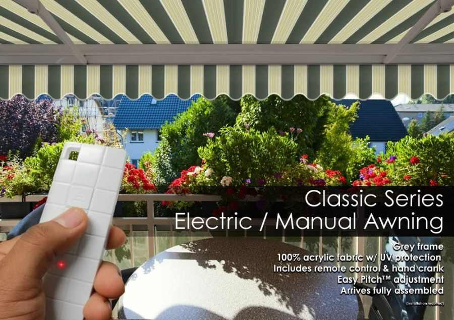 ADVANING Motorized Patio Retractable Awning Classic Series