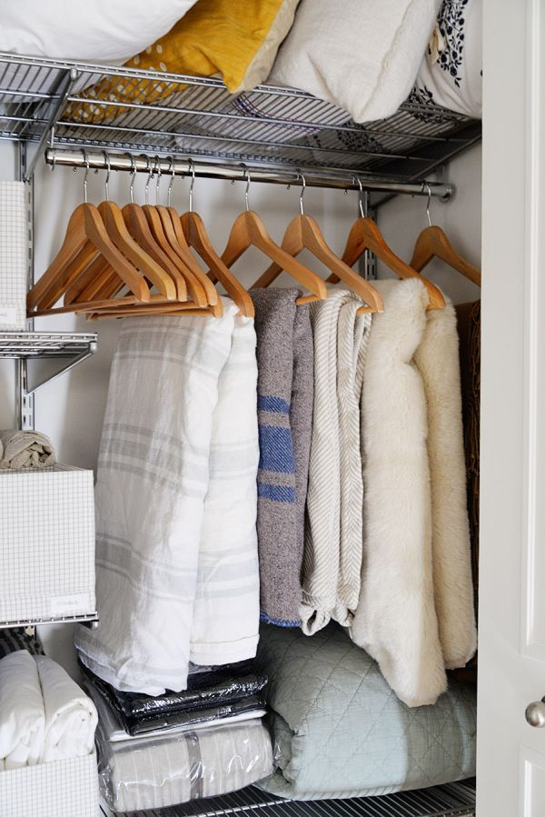 Blankets on hangers