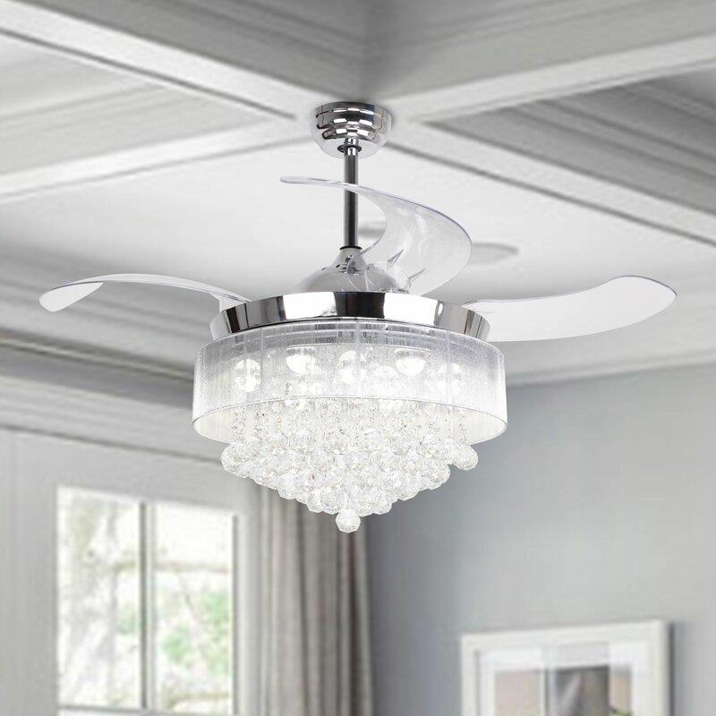 Broxburne 4 - Blade LED Ceiling Fan