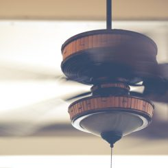 Ceiling fan retractable