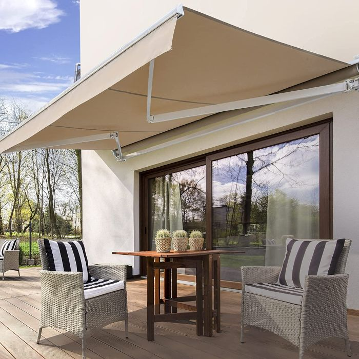 Diensweek Patio Awning Retractable Electric
