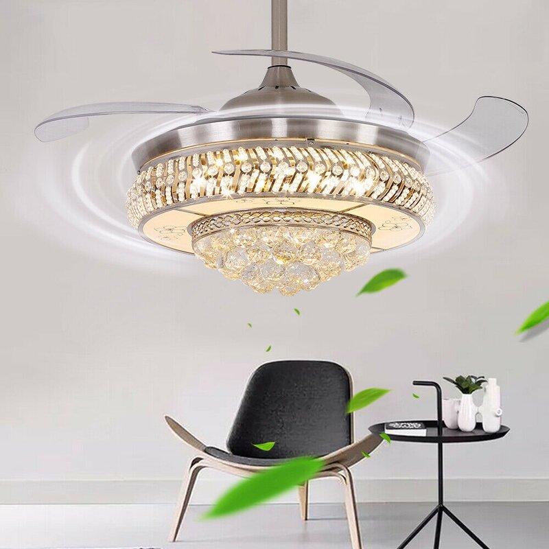 Fantine 4 - Blade LED Retractable Blades Ceiling Fan