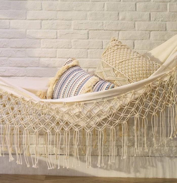 Flber Lumbar Throw Pillow Decorative Pillows Tassel Textured Woven Sham
