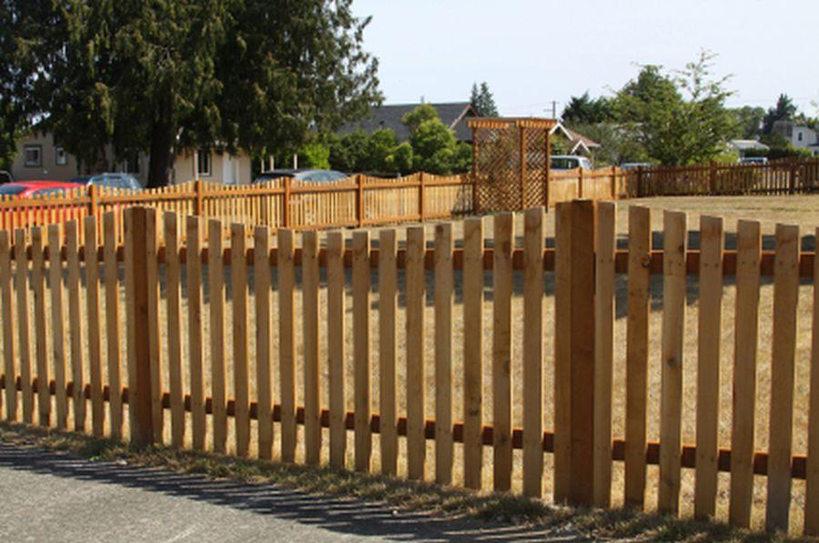 Valla de privacidad de madera