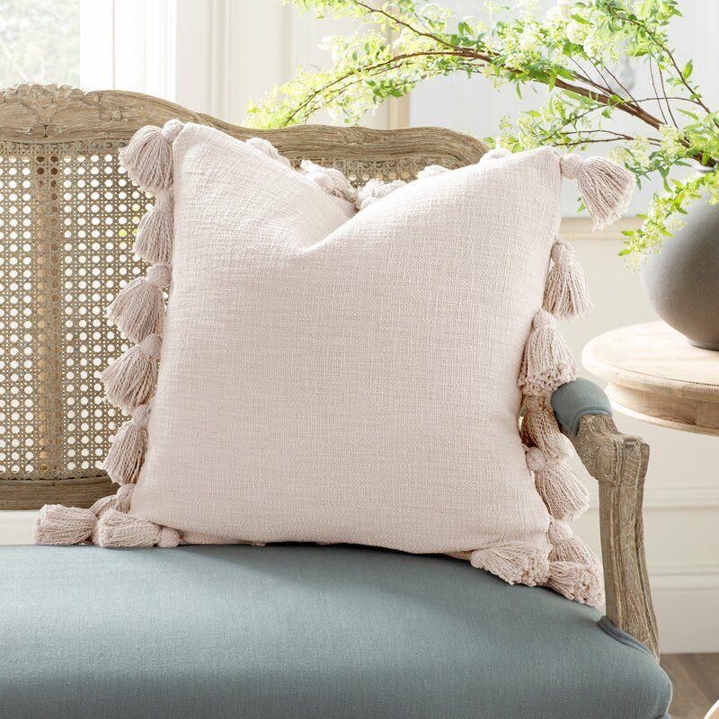 Interlude Luxurious Square Cotton Pillow