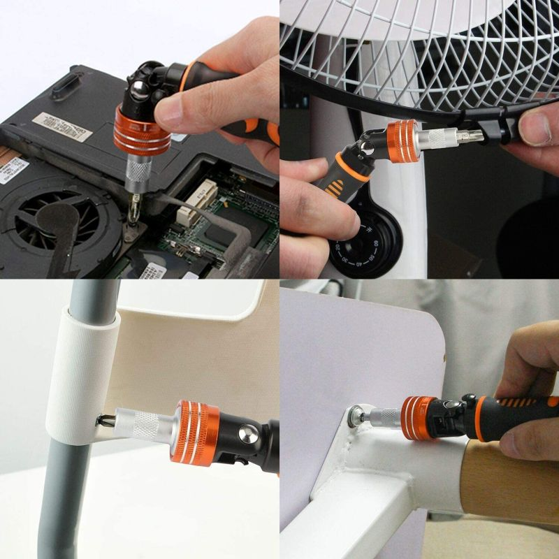 JAKEMY Home Rotatable Ratchet Screwdriver