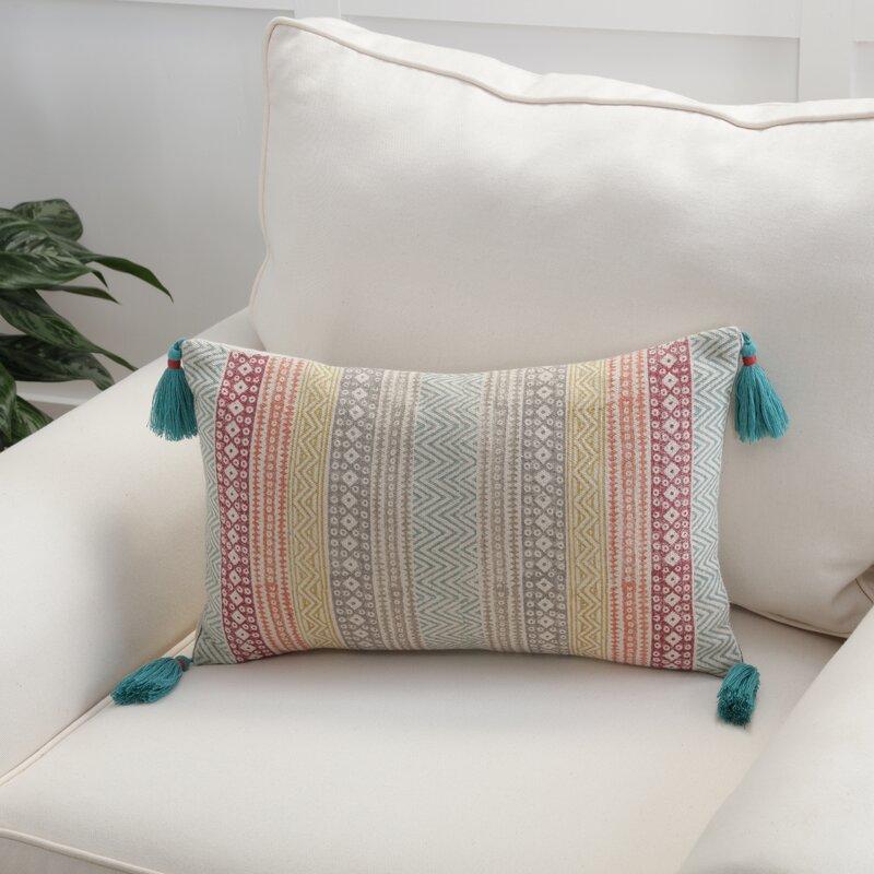 Jordy Rectangular Cotton Pillow Cover & Insert