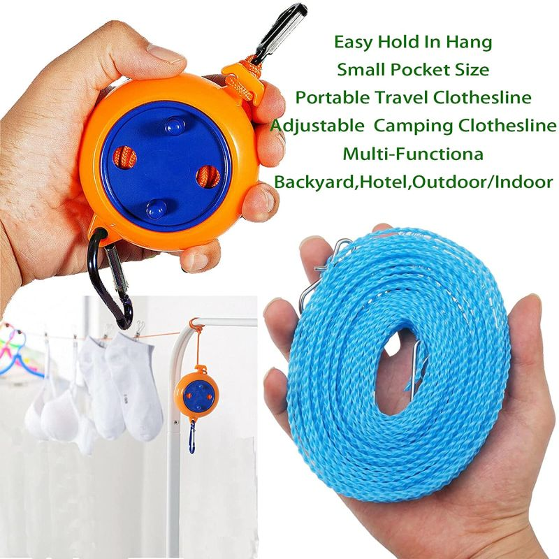 LZAOA 2 Pack Retractable Clothesline