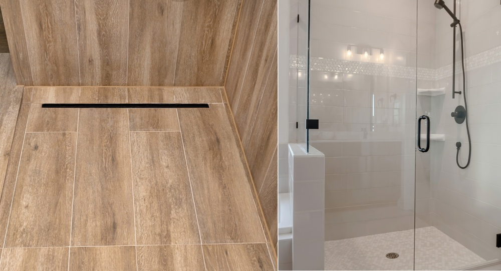 Linear vs Center Shower Drains