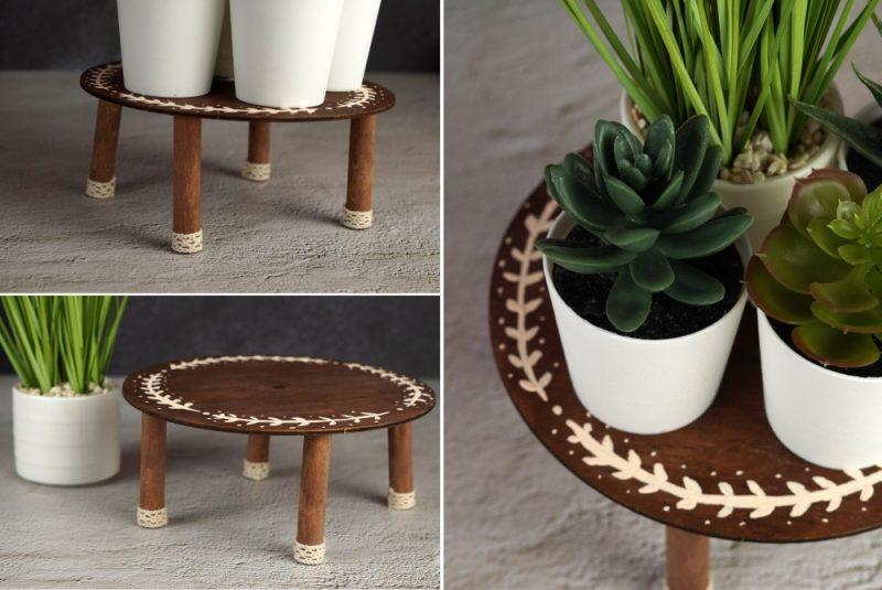DIY Flower Pot Stand With A Lovely Boho Design